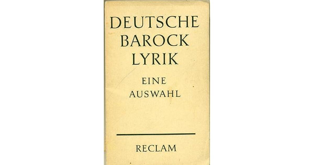 barock lyrik