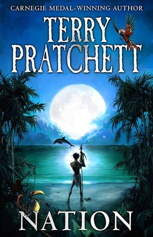 Book cover of, The Nation, by Terry Pratchett