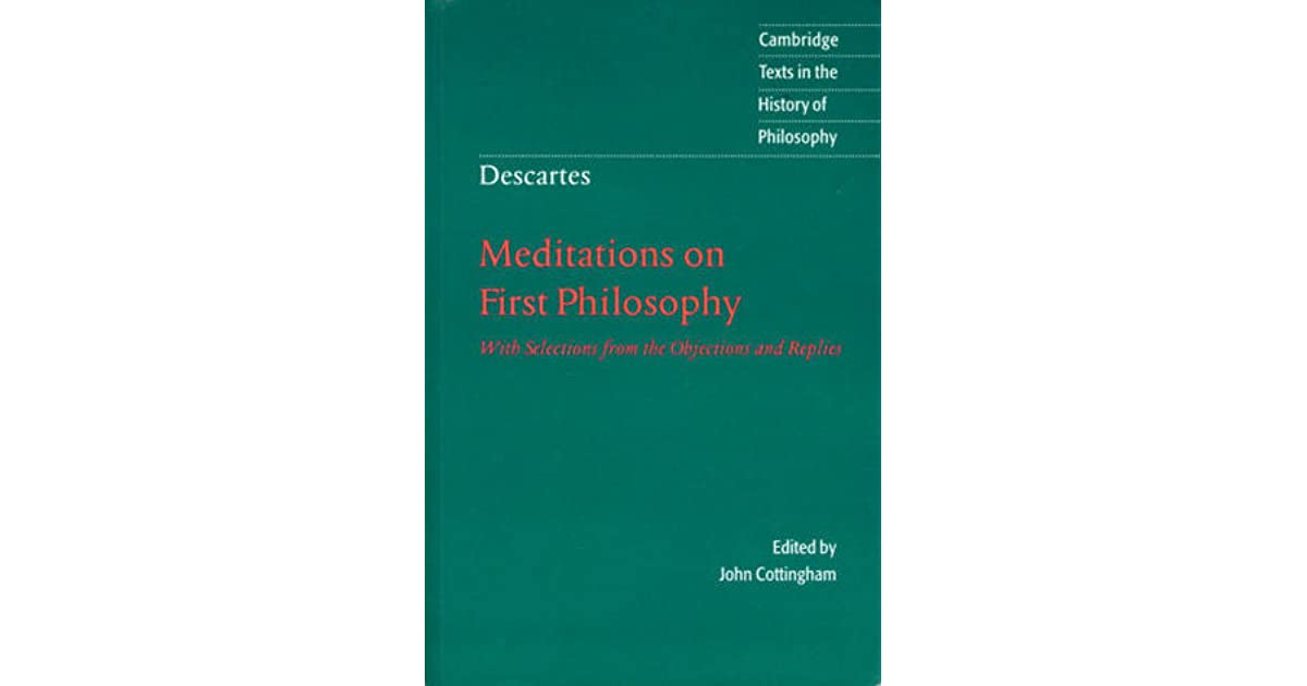 descartes meditations on first philosophy essays