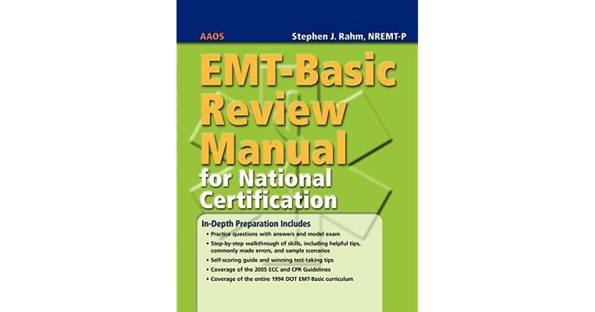 Emt Basic Review Manual For National Certification By American