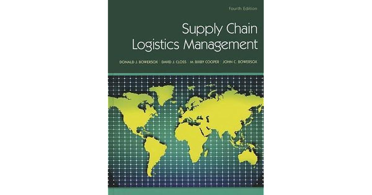 Supply Chain Logistics Management By Donald Closs Bowersox