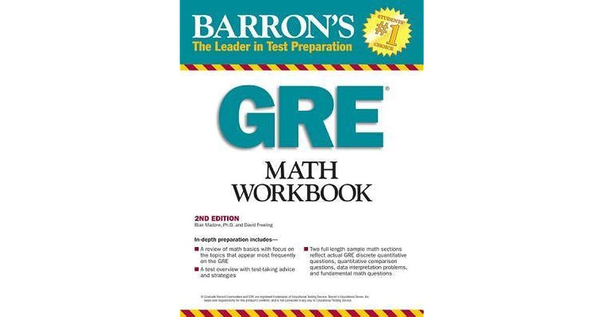 Barrons gre math workbook by blair madore fandeluxe Gallery