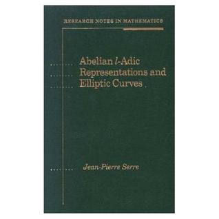Abelian l-adic Representations and Elliptic Curves (Research Notes in Mathematics (a K Peters), Vol 7)