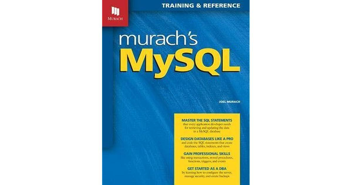 MURACH MYSQL BY JOEL MURACH EBOOK