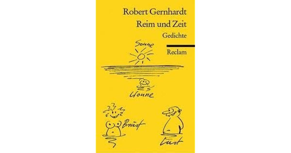 Reim Und Zeit Gedichte By Robert Gernhardt