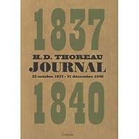 Journal, Vol 1: octobre 1837-décembre 1840