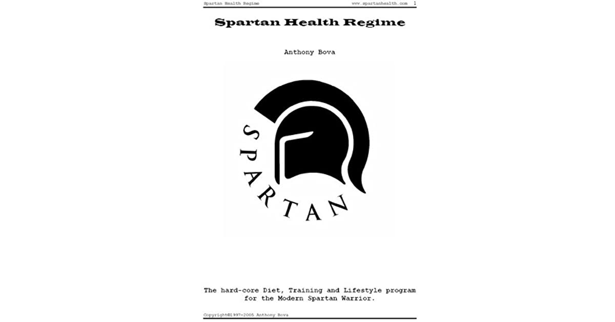 Spartan health regime by anthony bova 1 star ratings fandeluxe Image collections