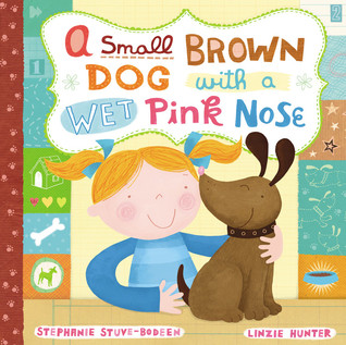 A Small Brown Dog with a Wet Pink Nose