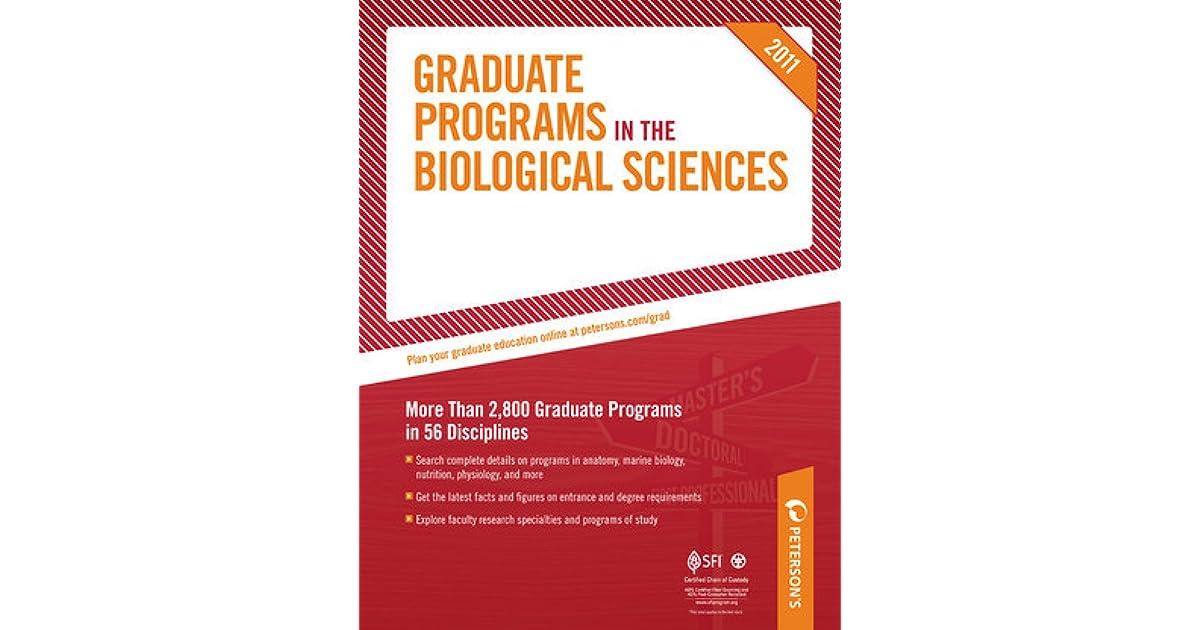 Graduate Programs in the Biological Sciences (Peterson\'s Graduate ...