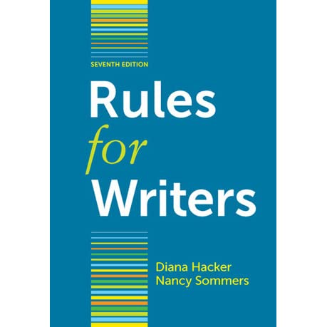 Rules for writers with writing about literature by diana hacker fandeluxe Choice Image