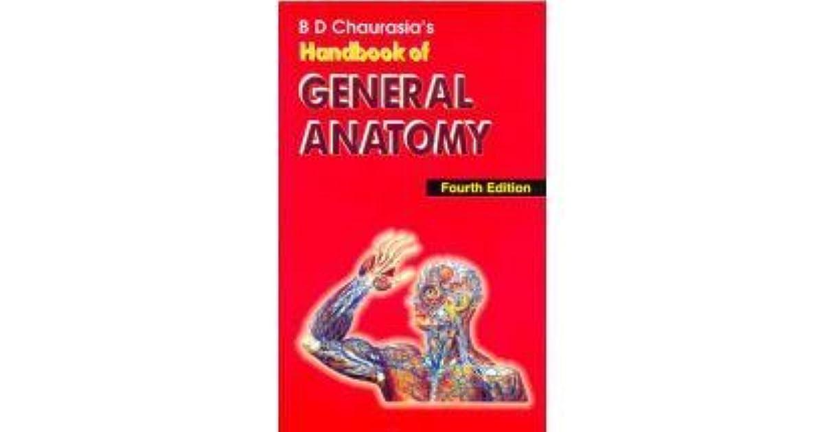 Handbook Of General Anatomy By Bd Chaurasia