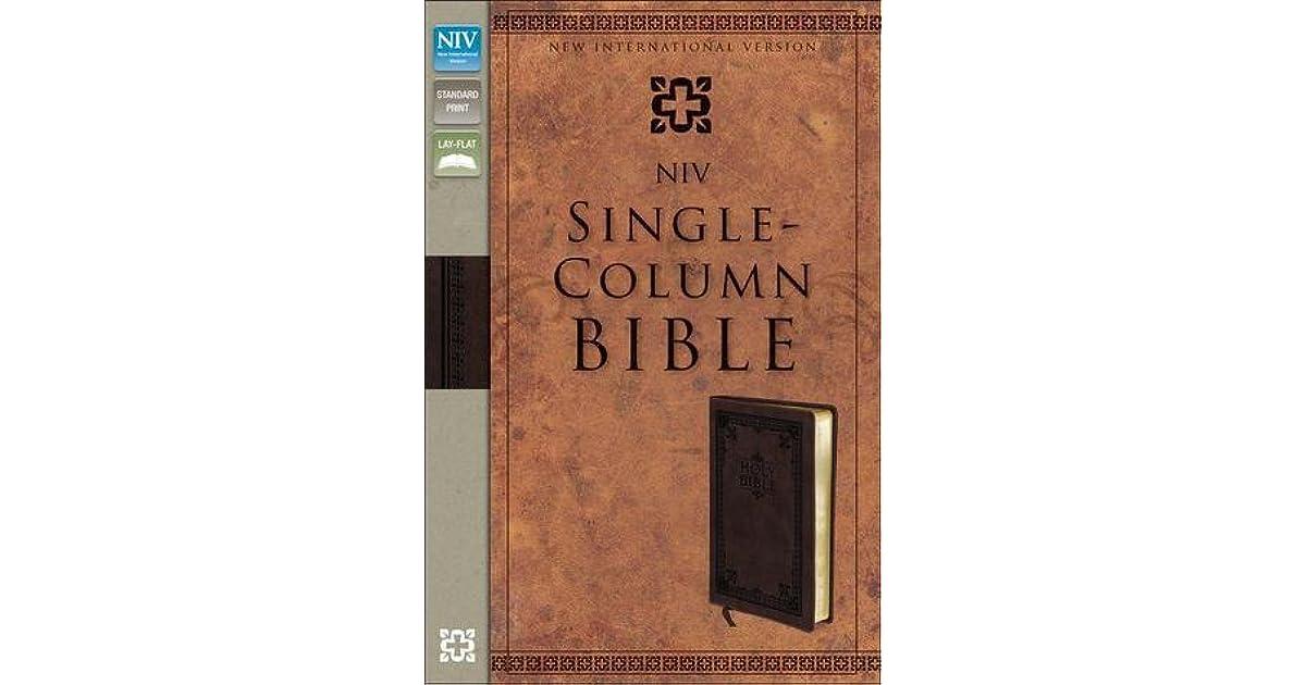 Single Column Bible Niv By Anonymous