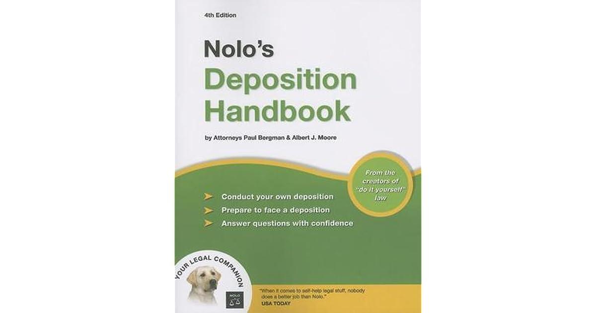 Nolos deposition handbook by paul bergman solutioingenieria Image collections