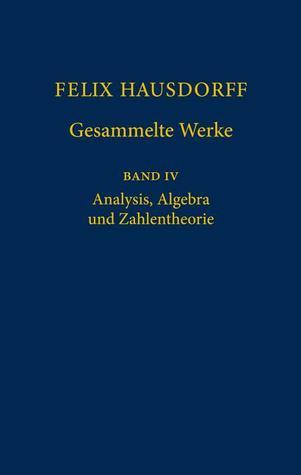 Felix Hausdorff   Gesammelte Werke: Band IV: Analysis, Algebra und Zahlentheorie