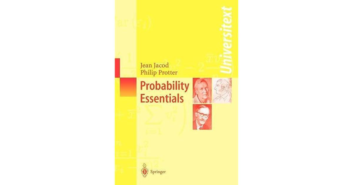 Probability Essentials - Jean Jacod