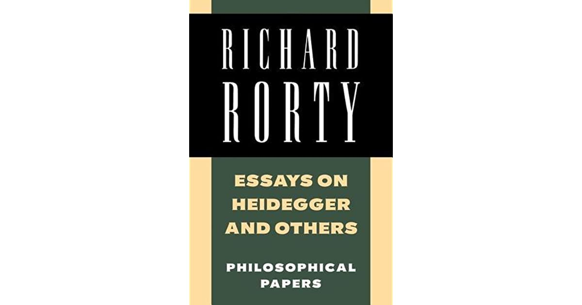 essays on heidegger and others philosophical papers