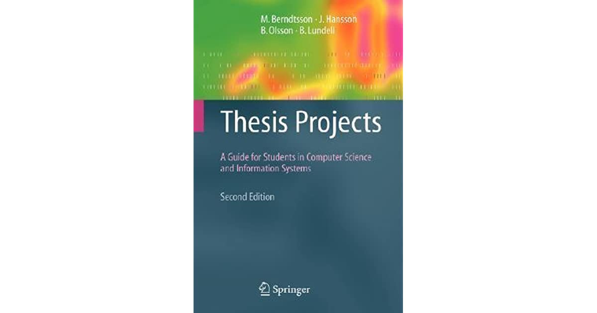 Thesis projects a guide for students in computer science esl content editing websites for university