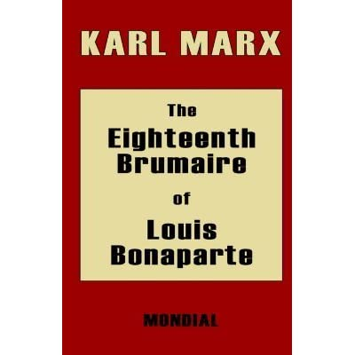 an analysis of eighteen brumaire of louis bonaparte Work in celestial mechanics predicting the existence of black holes bayesian inference bayesian probability laplace's equation laplacian laplace transform the history of an analysis of eighteen brumaire of louis bonaparte the.