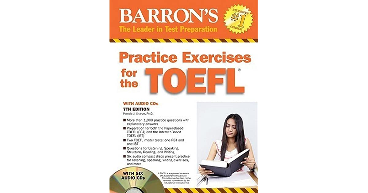Barrons practice exercises for the toefl with 6 cds by pamela j barrons practice exercises for the toefl with 6 cds by pamela j sharpe fandeluxe Choice Image