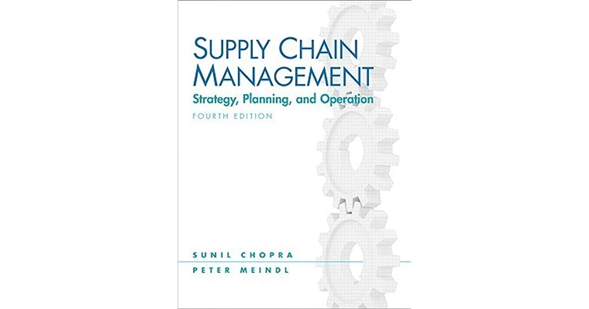 supply chain management strategy planning and operation pdf