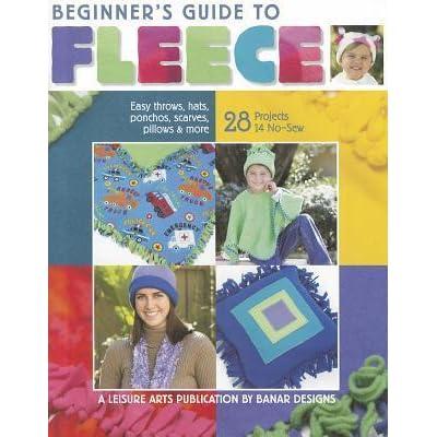 Leisure Arts 4 Seasons o Fleece Instruction Book