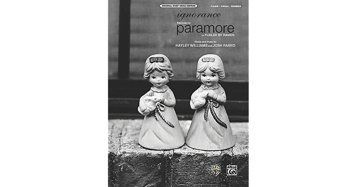 Ignorance: Piano/Vocal/Chords, Sheet by Paramore
