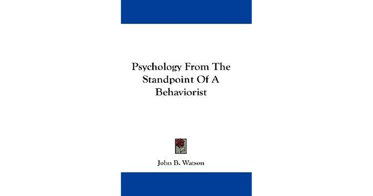 john b watson and behaviorism
