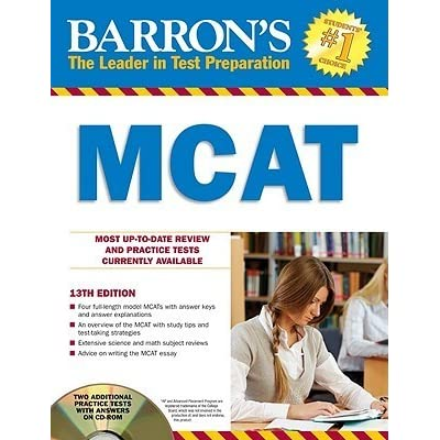 Barrons Mcat With Cd Rom By Jay B Cutts