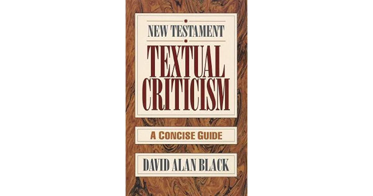 new testament textual criticism a concise guide pdf