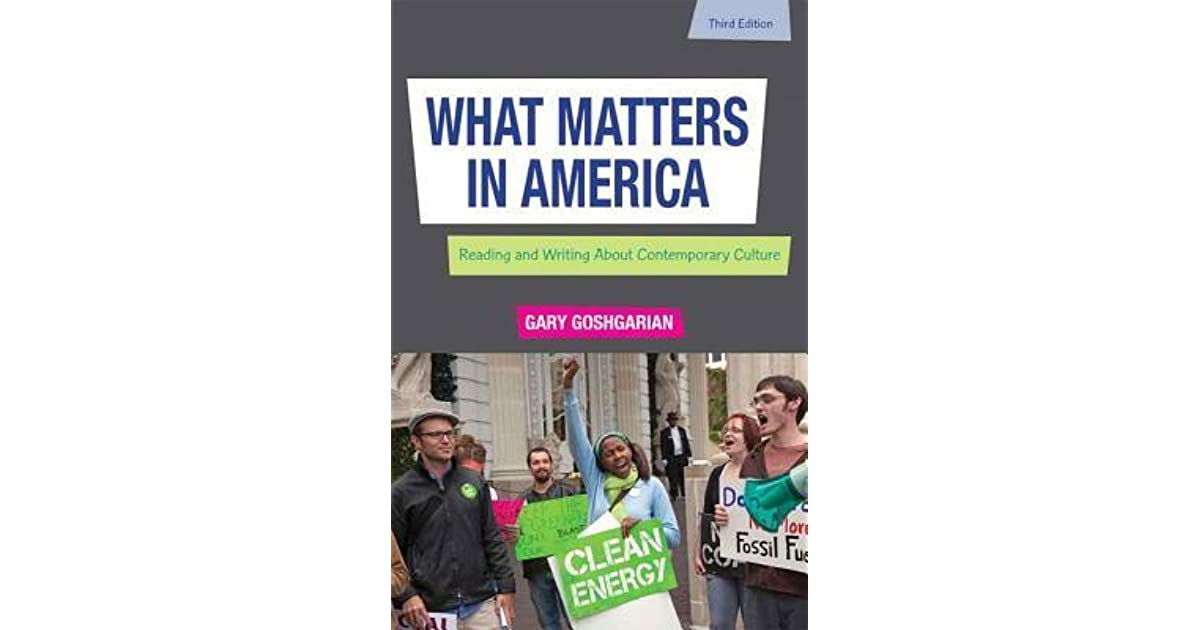 What matters in america by gary goshgarian fandeluxe Image collections