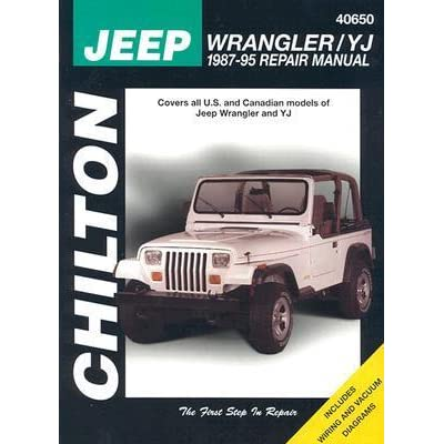 jeep wrangler yj 1987 95 repair manual by chilton automotive books rh goodreads com jeep wrangler yj owners manual jeep wrangler yj owners manual