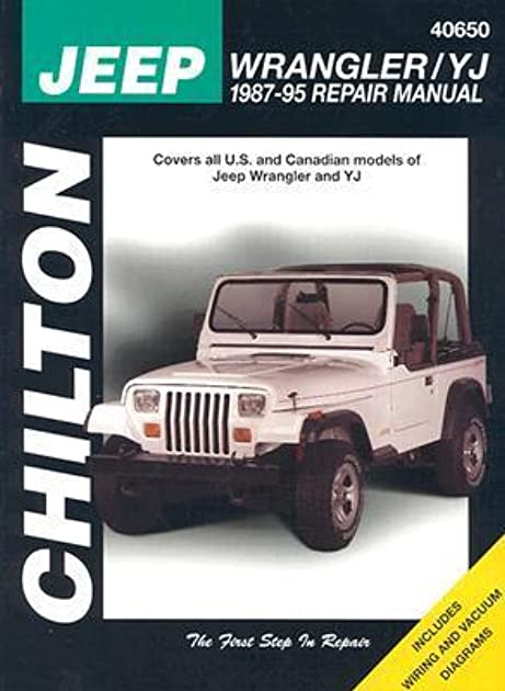 jeep wrangler yj 1987 95 repair manual by chilton automotive books rh goodreads com 93 Jeep Wrangler Wiring Diagram 92 Jeep Wrangler