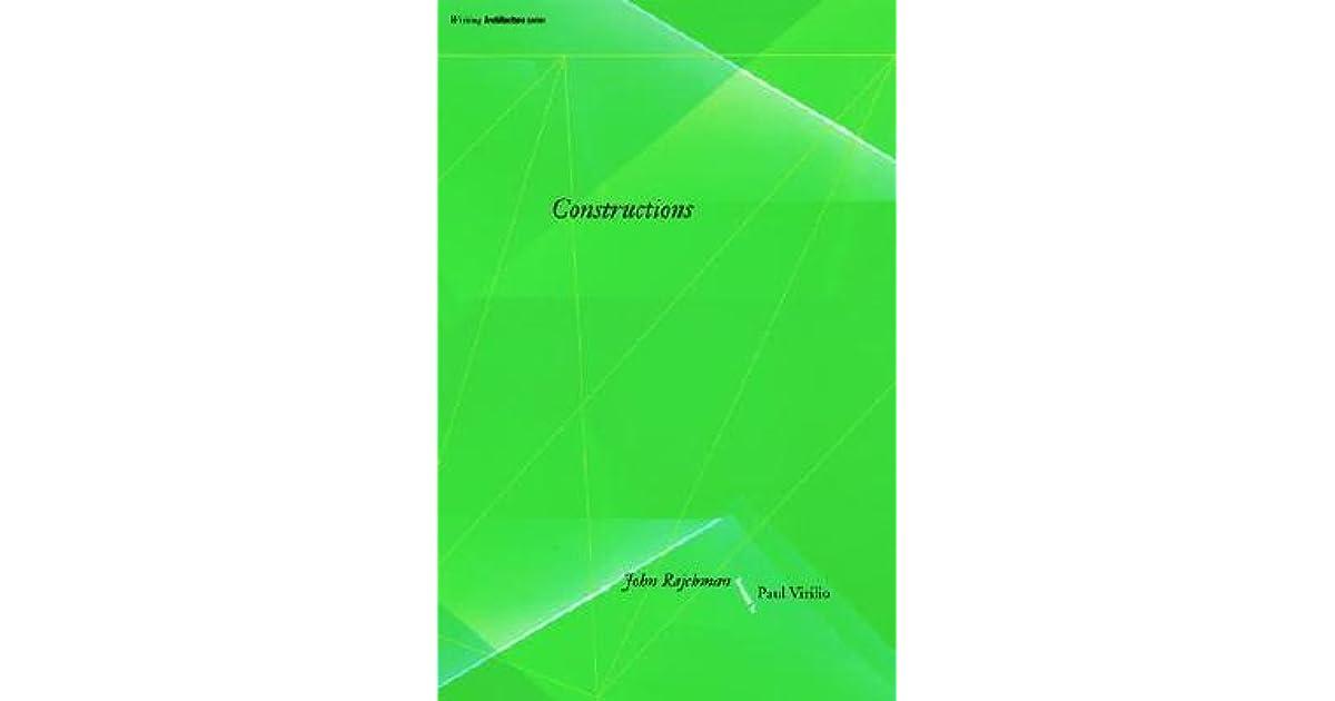 CONSTRUCTIONS JOHN RAJCHMAN PDF DOWNLOAD