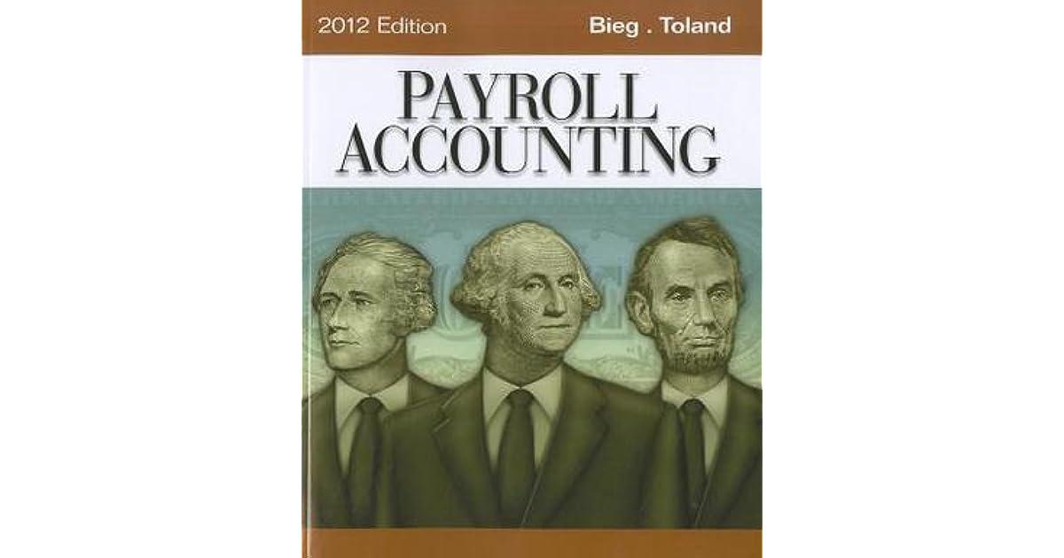 Payroll Accounting By Bernard J Bieg
