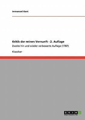 Kant Kritik Der Reinen Vernunft Critique Of Pure Reason
