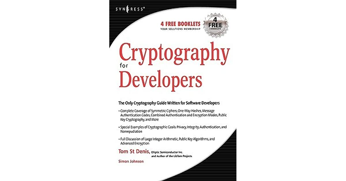 Cryptography For Developers By Tom St Denis