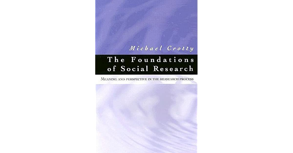 The Foundations of Social Research: Meaning and Perspective in the Research Process by Michael J. Crotty