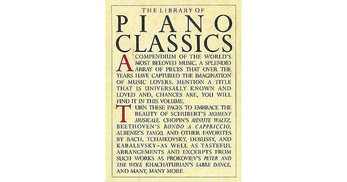 Library of Piano Classics: Piano Solo by Hal Leonard
