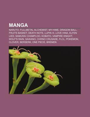 Manga: Naruto, Fullmetal Alchemist, My-Hime, Dragon Ball, Fruits Basket, Death Note, Lupin III, Love Hina, Elfen Lied, Samurai Champloo, Kobato