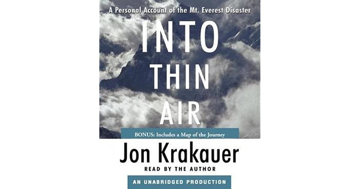 a summary of the plot of into thin air by jon kraukauer