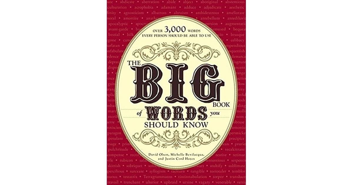 The Big Book Of Words You Should Know Over 3000 Words Every Person