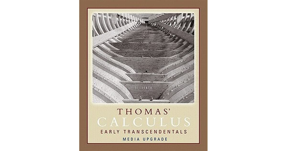 Thomas Calculus Early Transcendentals Part I With
