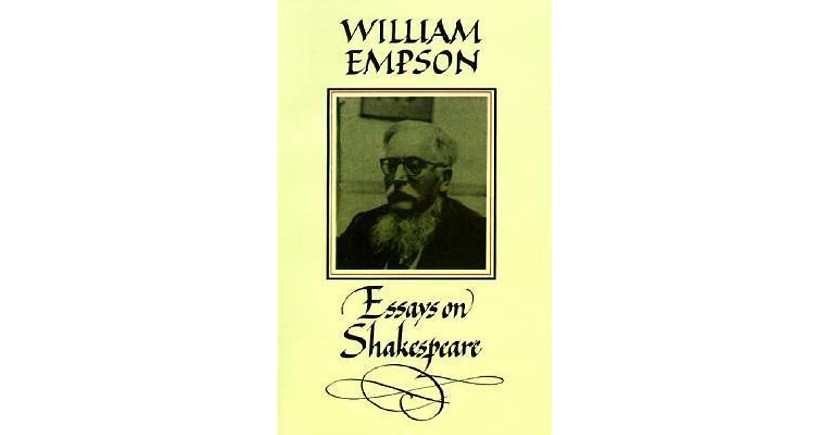 william empson essays on shakespeare