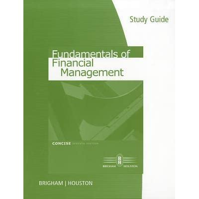 managerial finance study guide Course title: managerial finance part a: course overview required prior study 050974 new student guide program and course information.