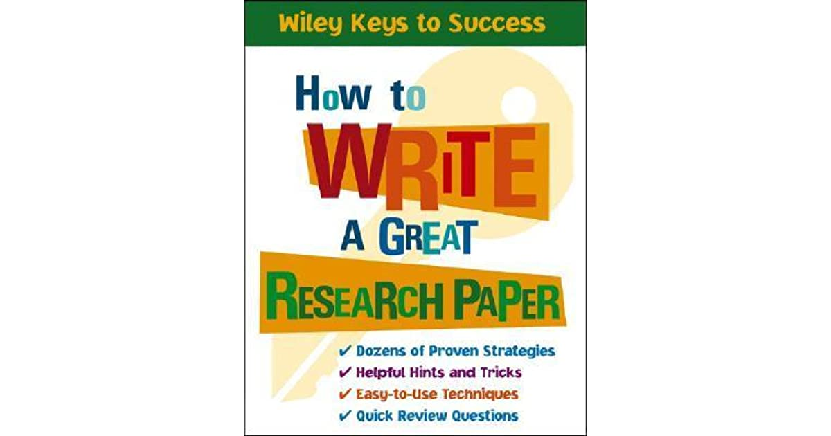 how to write a great research paper A research guide for students plagiarism the great gatsby how to write a research paper.