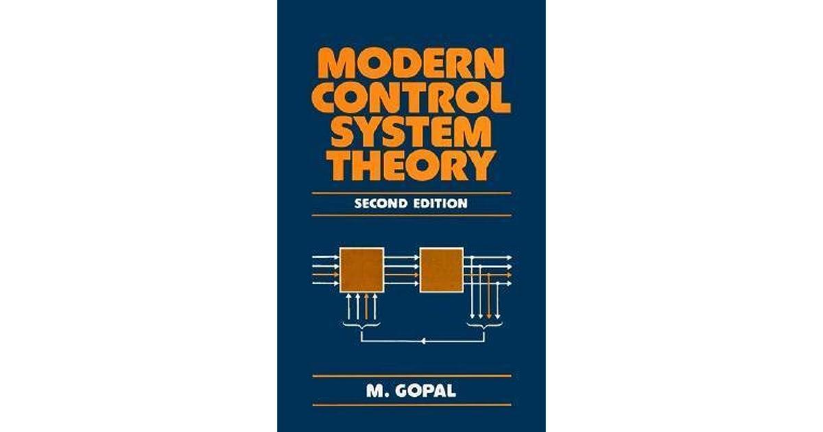 Modern Control System Theory M.gopal Pdf