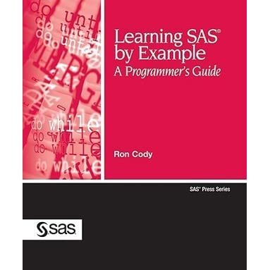 Image result for ron cody learning sas by example