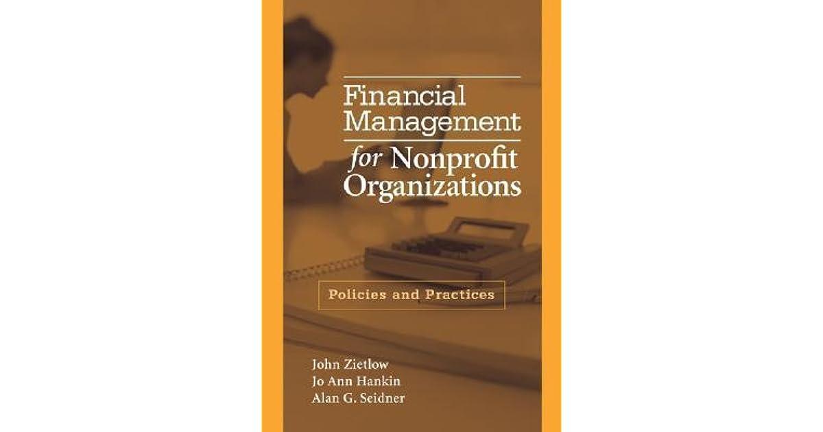 Financial Management For Nonprofit Organizations Zietlow Download