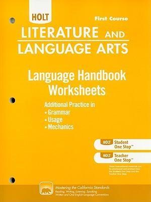 Holt Literature and Language Arts: Language Handbook Worksheets Grade 7