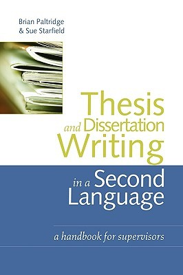 Thesis and dissertation a handbook for supervisors